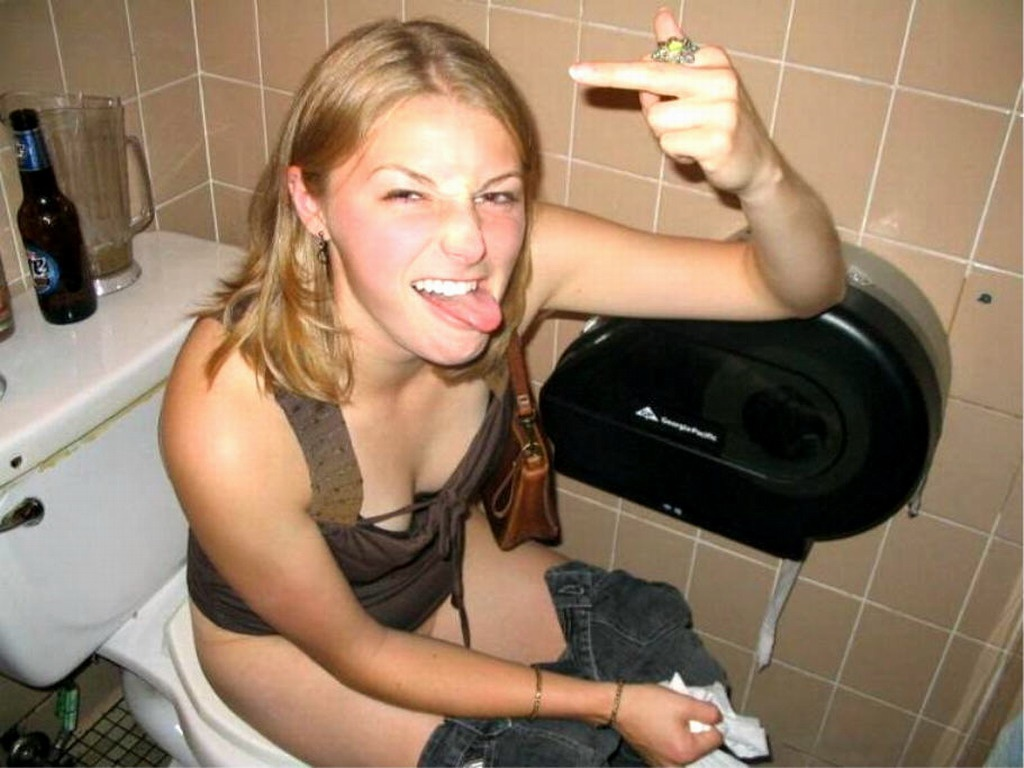 Naked toilet girl hot
