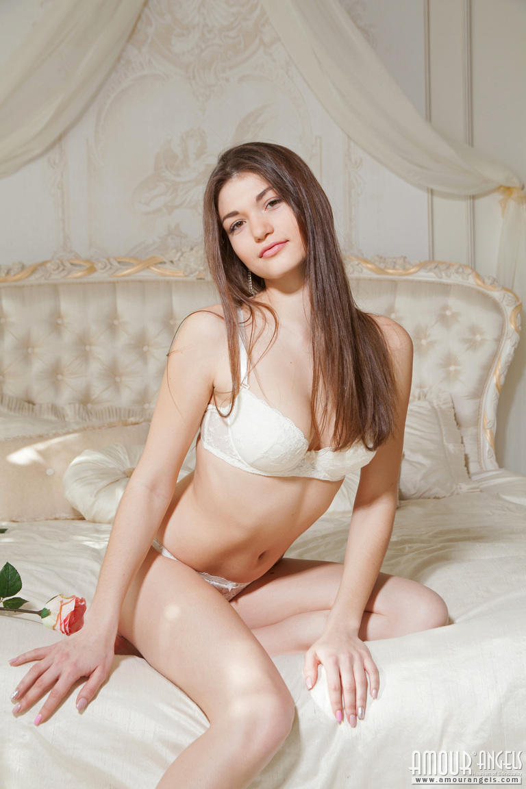 Hot Brunette Teen Lingerie