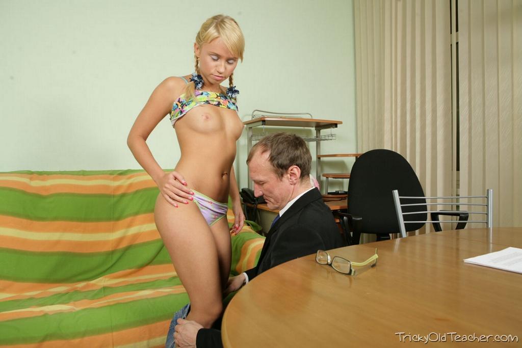 Young Blonde Teen Teacher